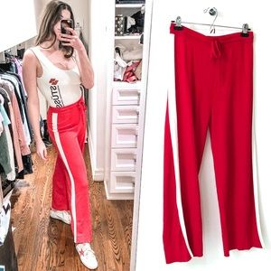 & Other Stories Red Wide Leg Pant